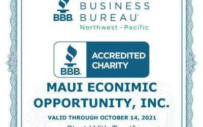MEO's receives a Certificate of Accreditation from the Better Business Bureau