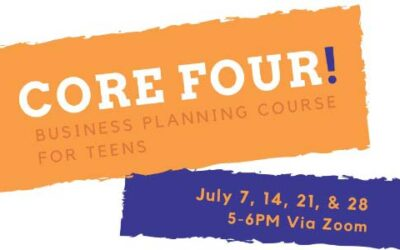 Core Four business planning course for teen entrepreneurs set in July