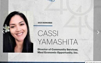 MEO's Cassi Yamashita named PBN 40 Under 40