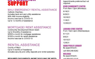 MORTGAGE, RENT & UTILITY ASSISTANCE IN-PERSON APPLICATION SUPPORT