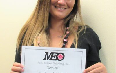 Housing specialist Shayna Manlapao is MEO Employee of the Month