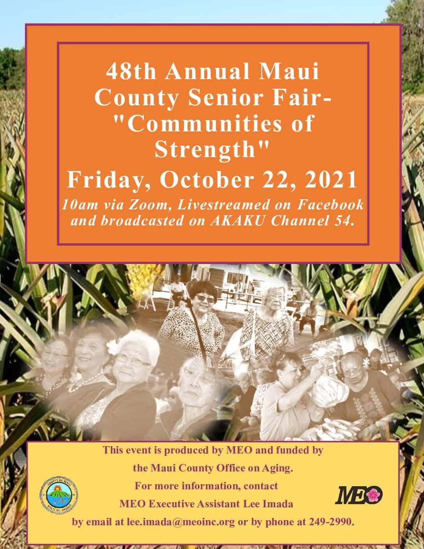 "48th Annual Maui County Senior Fair- ""Communities of Strength"""