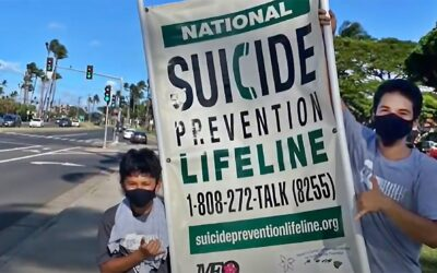 MEO Youth Services after-school members offer anti-suicide messages